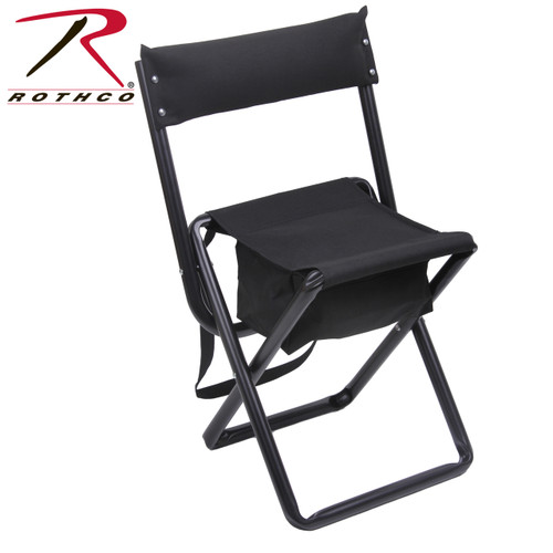 Rothco Deluxe Stool w/Pouch & Back - Black