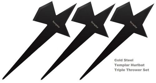Cold Steel 80TEMPZ Templar Hurlbat Triple Thrower Set