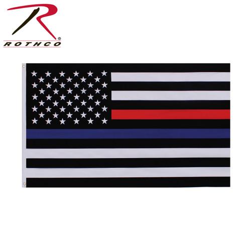 Thin Blue & Thin Red Line Flag