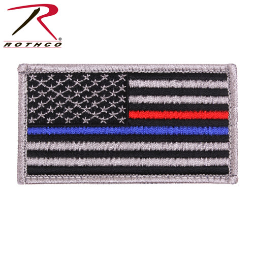 Thin Blue Line / Thin Red Line US Flag - Morale Patch