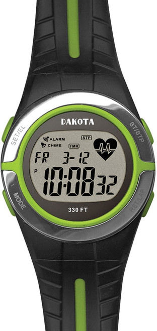 Heart Rate Monitor Lime/Blk