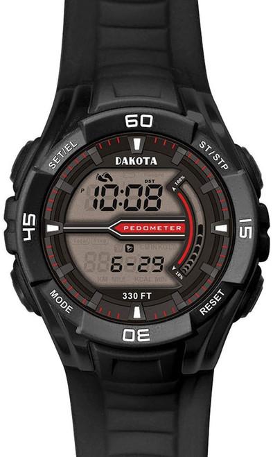 Black CS Pedometer Watch