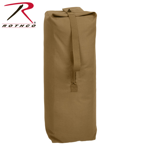 Rothco Heavyweight Top Load Canvas Duffle Bag - Coyote Brown 0c0997bbe2f56