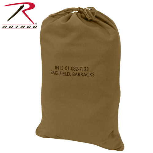 Rothco G.I. Type Canvas Barracks Bag Medium - Coyote Brown 26ecb0ae9bd54