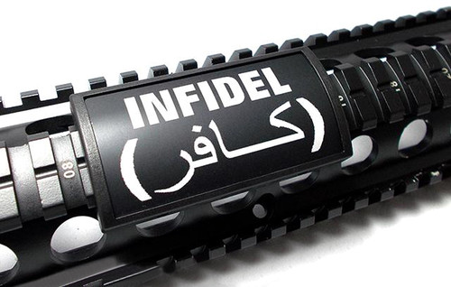 Custom Gun Rails (CGR) Large Laser Engraved Aluminum Rail Cover - Infidel