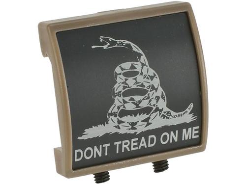 Custom Gun Rails (CGR) Small Laser Engraved Aluminum Rail Cover - Don't Tread On Me (Flat Dark Earth)