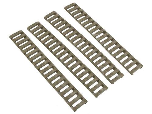 G&P Slim Rubber Hand Guard Ladder Rail Cover - Set of 4 (Color: Desert)