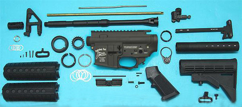 G&P Full Metal M4 WOC GBB Airsoft Gas Blowback Rifle Challenge Kit (Model: AR-15 Fighting Cat)