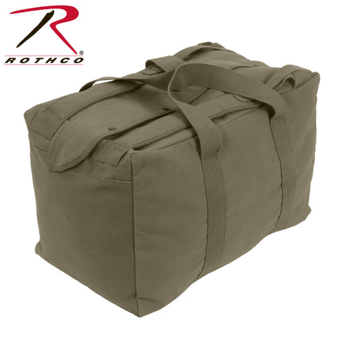 Rothco Canvas Mossad Type Tactical Canvas Cargo Bag - Olive Drab