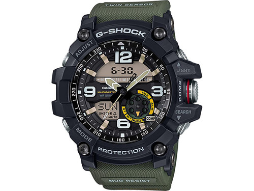 Casio G-Shock GG-1000-1A5CR Mudmaster Watch (Color: Military Green)