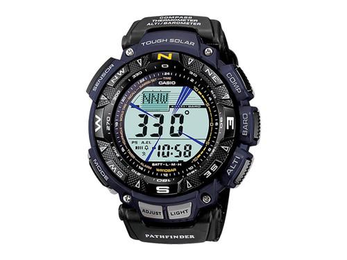 Casio Men's PAG240B-2CR Pathfinder Triple-Sensor Stainless Steel Watch