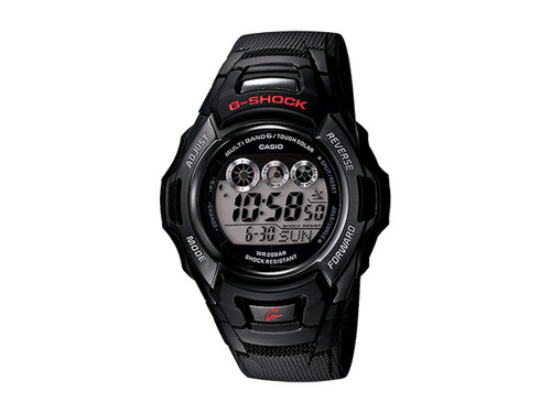 "Casio Mens GWM530A-1 G-Shock Stainless Steel ""Tough Solar"" Atomic Digital Watch"