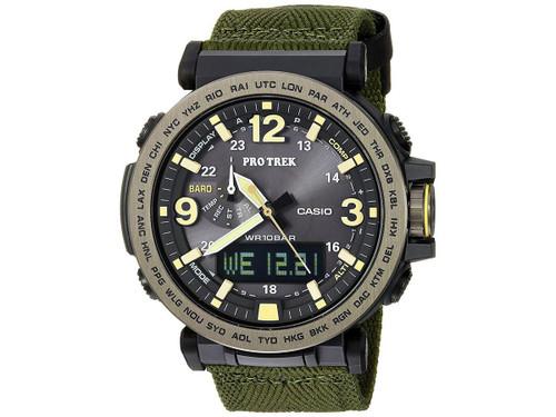 Casio Mens PRG-600YB-3CR Pro Trek Green Canvas Watch