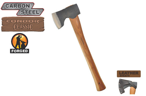 Condor CTK4052C15 Woodworker Axe w/ Leather