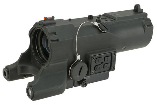 NcStar / VISM ECO 4x34 Scope w/ Green Laser, Nav LED, and Blue Illuminated Reticle and Micro Dot - Black (Urban Tactical Reticle)