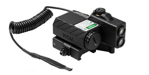 NcStar Offset Green Laser Designator with Navigation LED Lights - Black