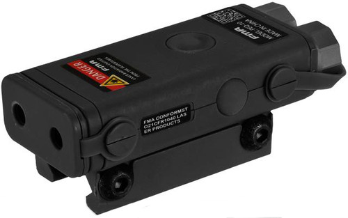 PEQ-10 Compact Airsoft LED Illuminator / Laser Combo by Bravo FMA (Color: Black)