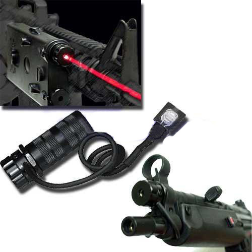ICS Laser System with remote. With special mount to fit into the front sight of ICS MP5 series AEG & ICS PEQ2 box