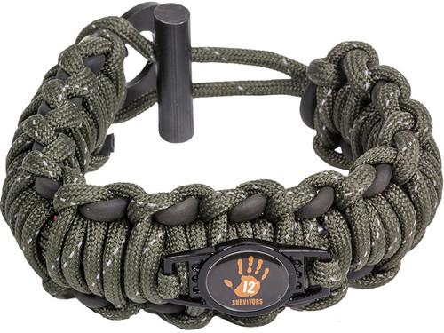 12 Survivors Paracord Bracelet Survival Band