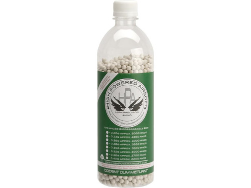 High Powered Airsoft 0.30g Biodegradable Airsoft BBs in Screw Top Bottle - 3300 Rounds