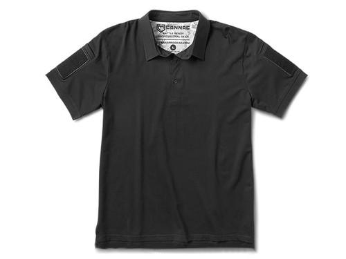 Cannae Professional Operator Cotton Polo Shirt - Black