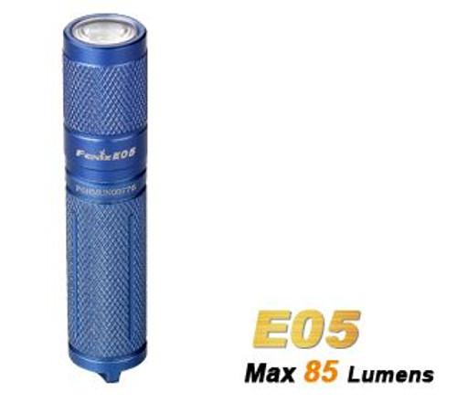 Fenix E05 Blue - 85 Lumens