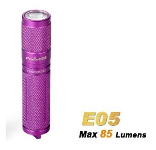 Fenix E05 Purple - 85 Lumens