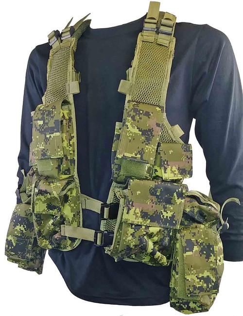 Military Style Camo Tac Vest - Canadian Digital
