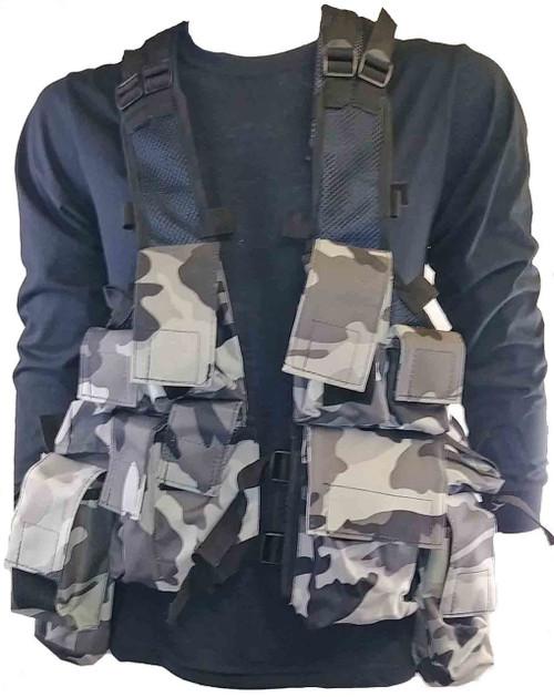 Military Style Camo Tac Vest - Urban