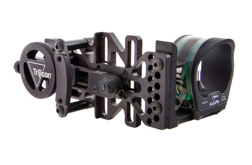 Trijicon AccuPin Dual Illuminated Bow Sight Green Triangle with AccuDial Mount Right Handed – Matte Black Finish