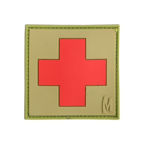 """Maxpedition PVC Morale Patch - 2"""" Medic Arid"""