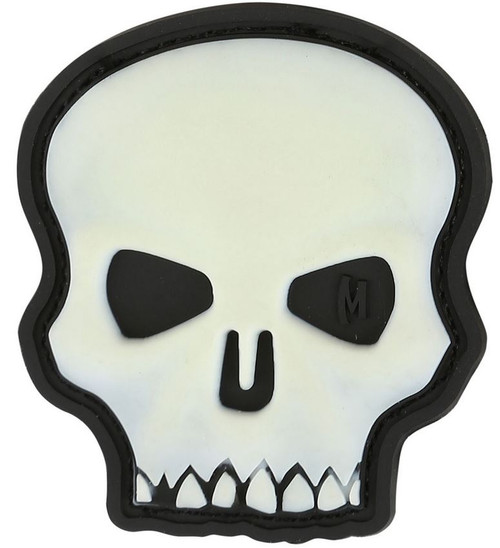 Maxpedition PVC Morale Patch - Hi Relief Skull Glow
