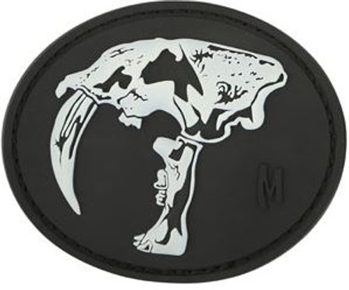 Maxpedition PVC Morale Patch - Sabertooth Skull Glow