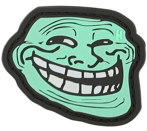 Maxpedition PVC Morale Patch - Troll Face Glow
