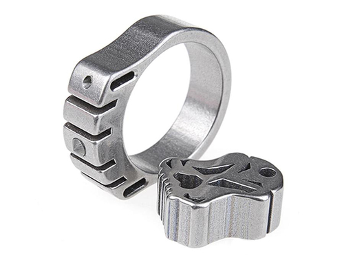 MecArmy SKF2T Dual-Tritium Titanium alloy ring (Size: 18mm)