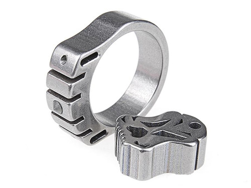 MecArmy SKF2T Dual-Tritium Titanium alloy ring (Size: 22mm)