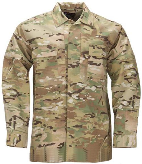 5.11 Tactical Ripstop TDU Longsleeve Shirt - Multicam (Size: Small)