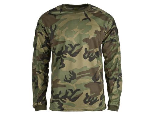 Valken Combat KILO Shirt - Woodland (Size: Small)
