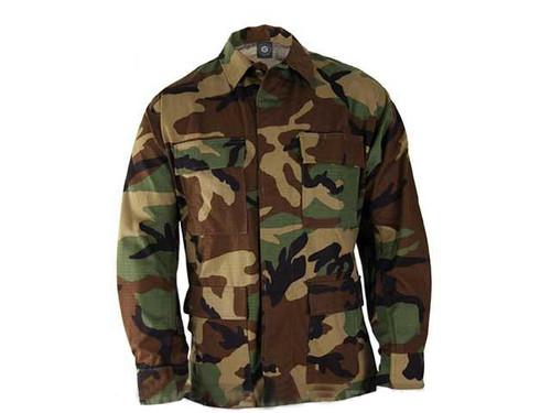 Genuine Gear BDU Coat - Woodland (Size: Medium)