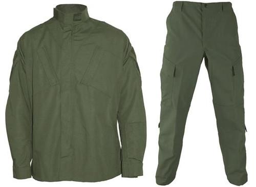 Matrix Deluxe ACU Style Combat Uniform Set - OD Green (Size: Large)