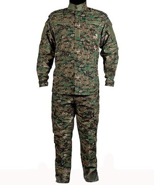 Matrix USMC Style Digital Woodland Battle Uniform Set (Size: Large)