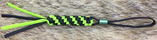 WE Knife A-01A Lanyard Green & Black w/ Green Ti Bead