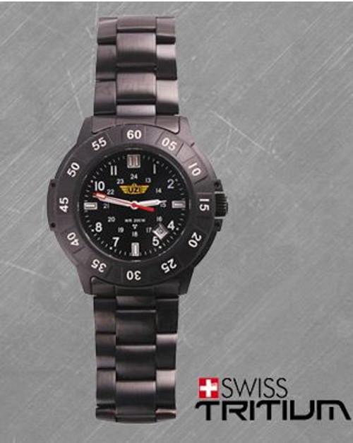 UZI Protector Quartz Watch 001M with Black Metal Strap