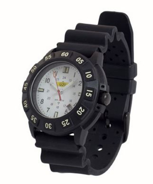 UZI Protector Quartz Watch 002R with Black Rubber Strap