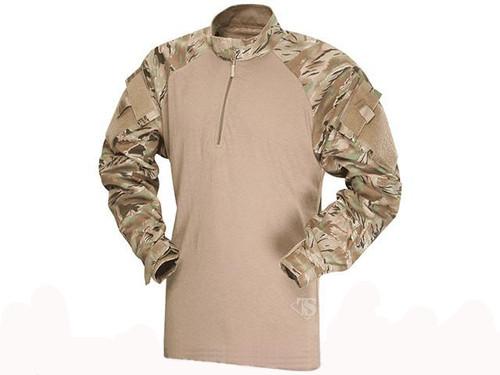 Tru-Spec Tactical Response Uniform 1/4 Zip Combat Shirt - All-Terrain Tiger Stripe (Size: Medium)