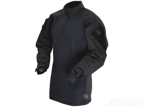 Tru-Spec Tactical Response Uniform 1/4 Zip Combat Shirt - Black (Size: Medium)