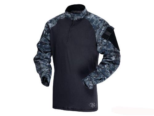 Tru-Spec Tactical Response Uniform 1/4 Zip Combat Shirt - Midnight Digital (Size: Small)