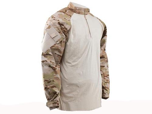 Tru-Spec Tactical Response Uniform 1/4 Zip Combat Shirt - Multicam Arid (Size: Large)