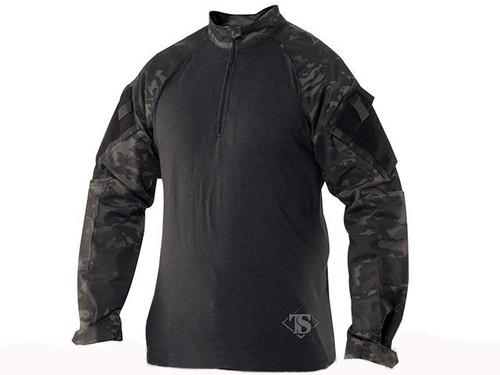 Tru-Spec Tactical Response Uniform 1/4 Zip Combat Shirt - Multicam Black (Size: Small)