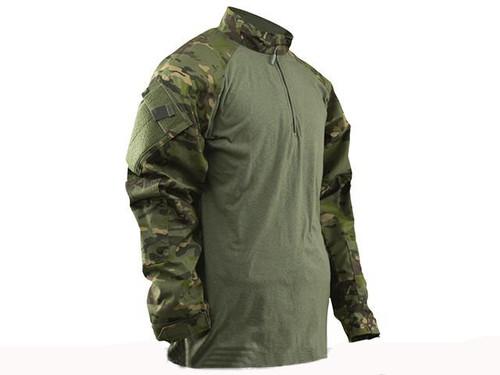 Tru-Spec Tactical Response Uniform 1/4 Zip Combat Shirt - Multicam Tropic (Size: Medium)